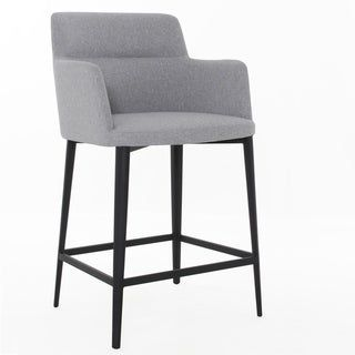 Williamsburg Upholstered Bar Stool 25 Inch 29 Inch Warm Grey Counter Height 23 28 In Black Elite Living In 2020 Bar Stools Upholstered Bar Stools Modern Furniture Toronto