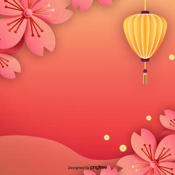 2020 的 Red Chinese Style New Year Background Elements