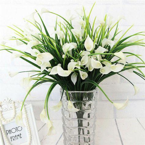 Beautiful Artificial Calla Lily flowers #artificialplants #artificialflowers #homedecorplants #ad #fakeflowers #plasticplants