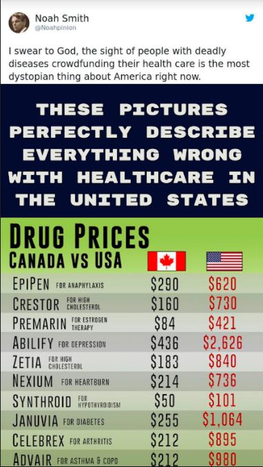 These Pictures Perfectly Describe Everything Wrong With Healthcare In The United States In 2020 Health Care Canada Vs Usa United States