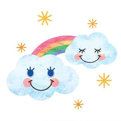 雲と虹の無料イラストです2020 雲 イラストイラスト雲