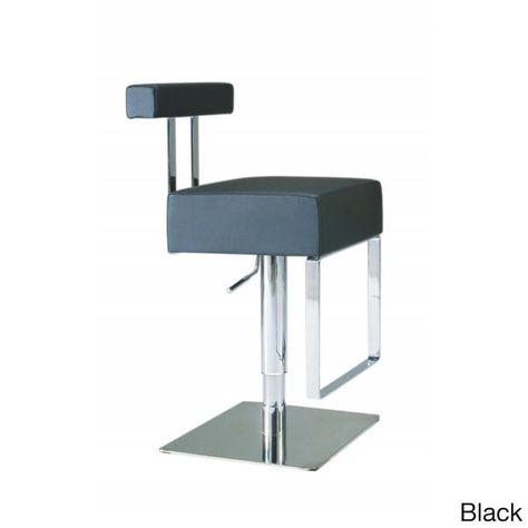 Terrific Somette Vinyl Upholstered Brushed Stainless Steel Adjustable Machost Co Dining Chair Design Ideas Machostcouk
