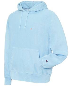 Champion Men's Garment Dyed Reverse Weave Hoodie Blue 2XL