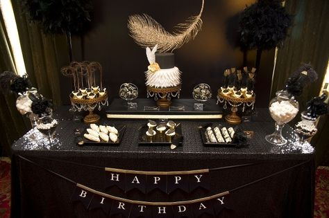 A Classy 40th Feather Party Elegant Birthday Party 50th
