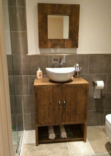 New Solid Wood Rustic Bathroom Under Sink Cabinet Cupboard Storage With Shelf Bathroom Under Sink Cabinet Under Sink Cupboard Cupboard Storage