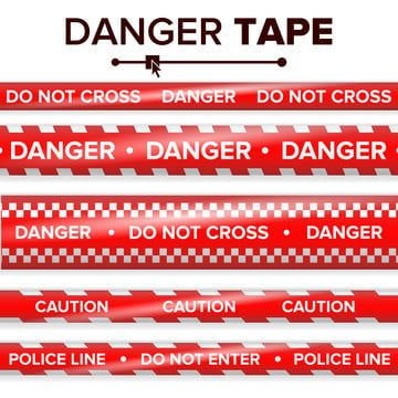 Red Tape White Warn Barricade Caution Cordon Ribbon Accident Alert Area Attention Band Barrier Block Border Boundary Crime In 2021 Red And White Cross Vector Realistic