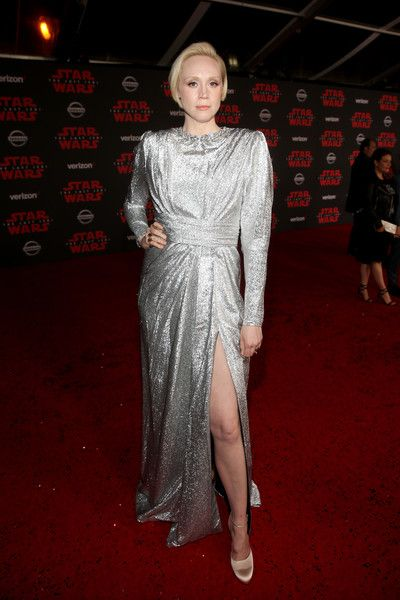 Actor Gwendoline Christie attends the 'Star Wars: The Last Jedi' Premiere at The Shrine Auditorium.