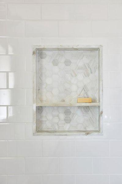 Marble Shower Niche Design Ideas White Tile Shower Shower Niche