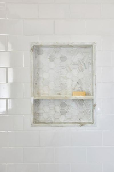 Marble Shower Niche Design Ideas Tile Shower Niche White Tile