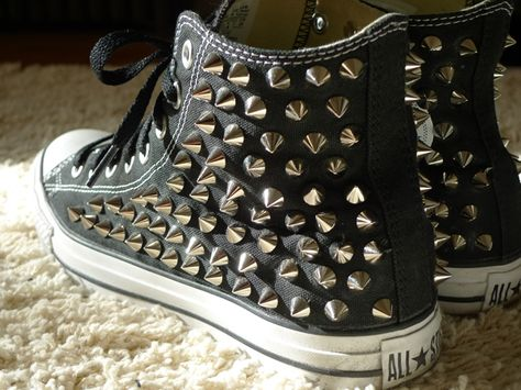 Fashion DIY - COMPLETED Studded Converse High Tops ~ SOLIFESTYLE 729ab0480