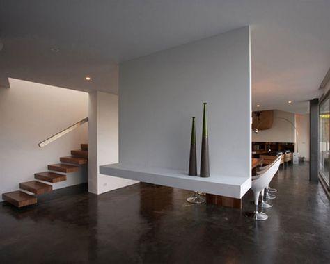 Decoration, White Wall Paint Decoration In Interior Modern House - dekoration für wohnzimmer