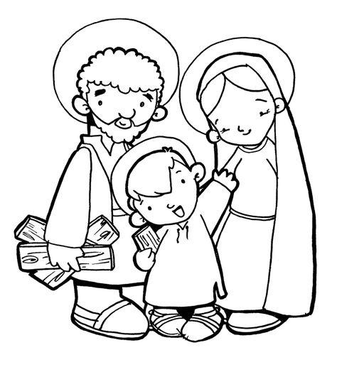 La Sagrada Familia De Jesús María Y José Para Pintar