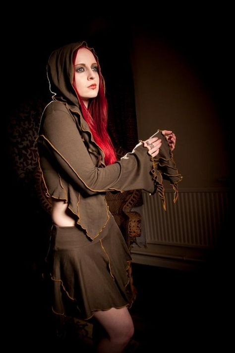 Brown Princess Top ~ Plus Size ~ Custom Made ~ Cotton Jersey ~ Halloween ~ Long Sleeve Top ~ For Forest Faeries & Fantasy Freaks alike ~