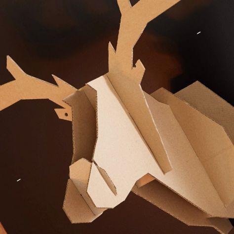 Tuto : Un trophée tête de cerf DIY pour Noël !