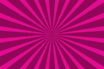 Pop Art Vintage Radial Line Background Halftone Comic Book Backdrop Pink Old Poster Colored Cartoon Vector Illustrat Pop Art Background Pop Art Book Backdrop