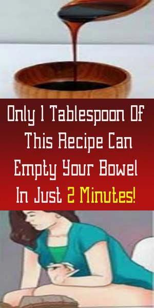 Only 1 Tablespoon Of This Recipe Can Empty Your Bowel In Just 2 Minutes! - Gubuk Buah