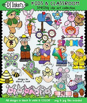 Spring Clip Art Kids And Classroom Download New Clip Art Art For Kids Art