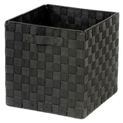 Panier De Rangement Carre Tresse Noir Mixxit En 2020 Panier Rangement Cube Rangement Et Rangement