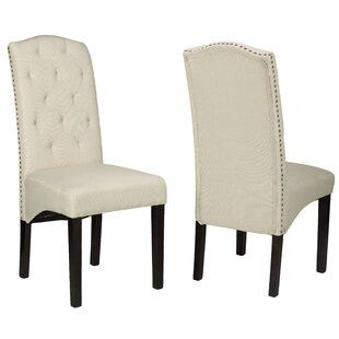 Lemaire Tufted Upholstered Side Chair Joss Main Dining Chairs Fabric Dining Chairs Side Chairs Dining