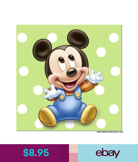 Mickey Mouse Baby Napkins Cake 1St First Birthday Decoration Party Supplies Boy Ebay Home Garden