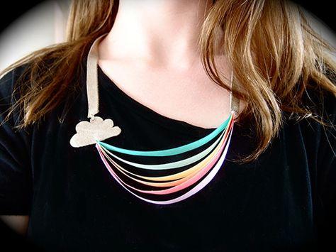 Rainbow Ribbon Necklace