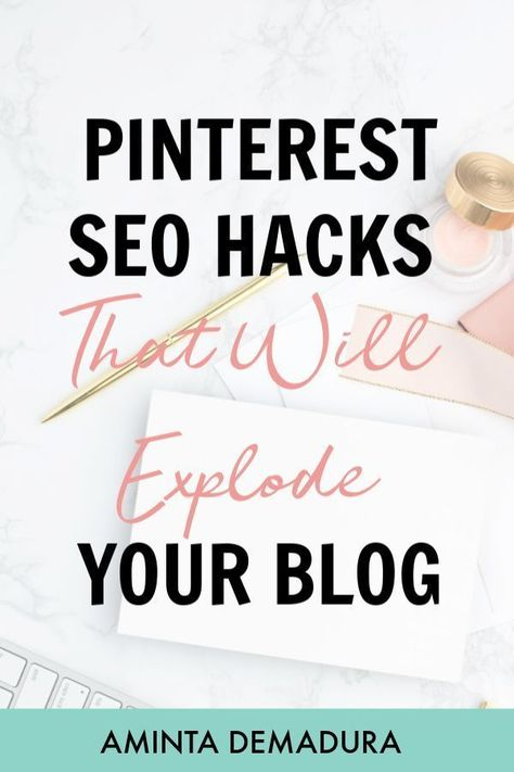 My Top Secret Pinterest SEO Tips for Blog Traffic - AmintaDemadura.com