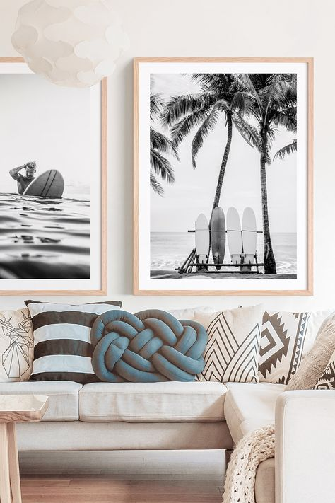 Lusting for the ocean? Bring beach vibes to your interior with coastal wall art ocean prints. Available as posters or framed prints online in Australia. Decoration Surf, Apartment Decoration, Coastal Wall Art, Coastal Decor, Coastal Interior, Beach Wall Art, Coastal Cottage, Surfer Decor, Deco Surf