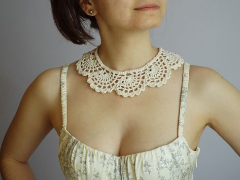 Colletto all'uncinetto crochet collar