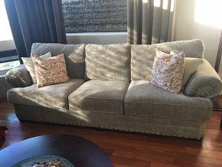 Sofa With Nailhead Trim And Herringbone Pattern Upholstery Furniture Sofa Home Decor