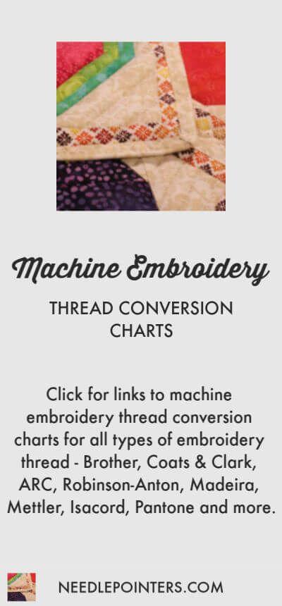 Thread Conversion Charts Free Machine Embroidery Machine Embroidery Thread Free Machine Embroidery Designs