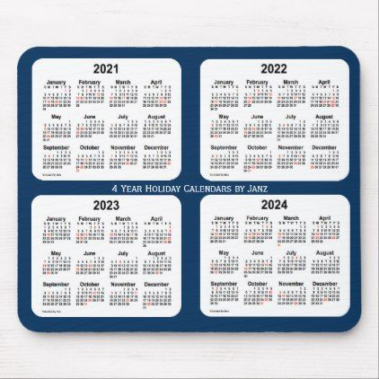 2021 2024 Police Box Blue Holiday Calendar By Janz Mouse Pad Zazzle Com Holiday Calendar Custom Calendar Calendar