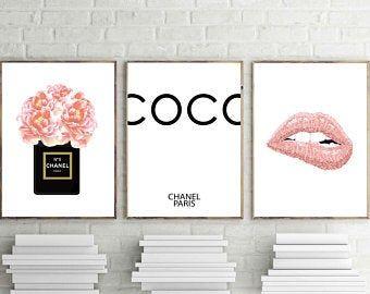 Pink Lips Print Woman With Pink Lipstick Wall Art Woman Fashion Poster Glam Lipstick Trendy Makeup Flawless Skin Portrait Beauty Decor Pink Wall Art Chanel Wall Art Fashion Wall Art