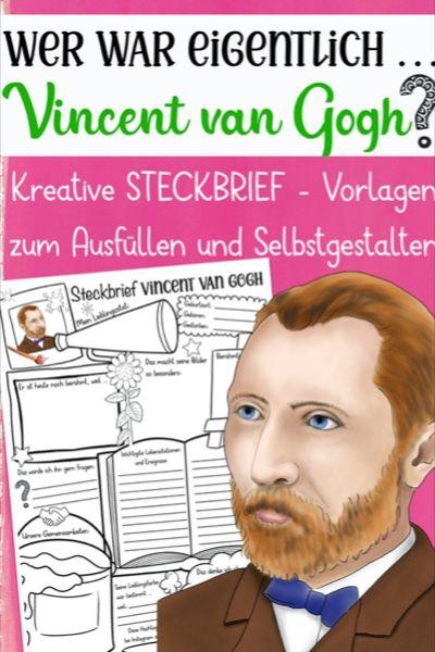 Wer War Eigentlich Materialpaket Kunstler Maler Unterrichtsmaterial In Den Fachern Geschichte Kunst Kunstunterricht Vincent Van Gogh Kunstler Grundschule