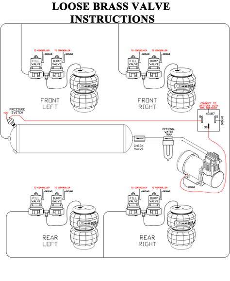 Compressor Installation Instructions Airbagit Com Air Ride Trailer Light Wiring Air Compressor Repair