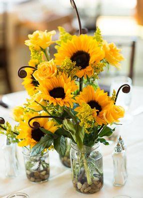 70 Artificial Silk Sunflower Wedding Bouquet Vase Centerpiece Decor