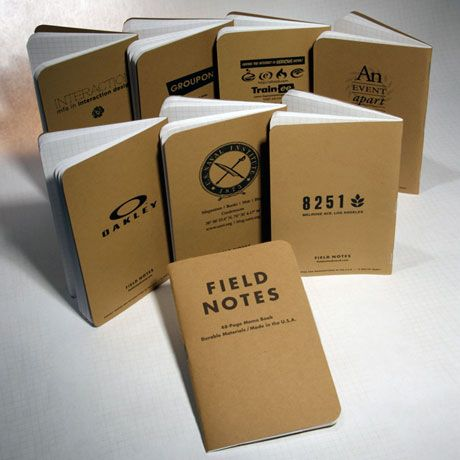 Customizable Field Notes books If 1000 wasnt the minimum order – Field Note