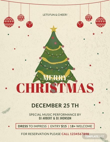 Christmas Party Promotion Flyer Template Free Jpg Word Apple Pages Psd Publisher Template Net Christmas Poster Free Christmas Flyer Templates Christmas Graphic Design