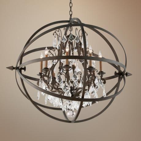 Bryron 41 1 2 Wide Vintage Bronze Chandelier 2x851 Lamps Plus Bronze Chandelier Chandelier Lighting Fixtures Circular Pendant Light