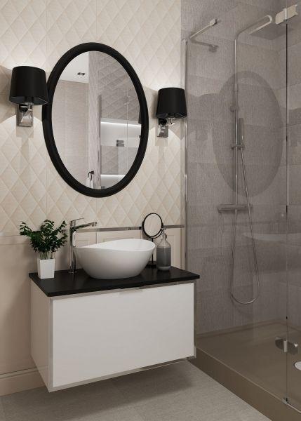 lampy do łazienki przy lustrze