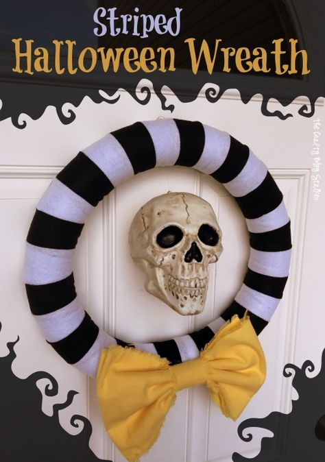 I love decorating for Halloween. There are so many possibilities between creepy, scary, vintage, and fun and cutesy. I am not exactly sure what category this Striped Halloween Wreath would fall under. The skull makes it creepy while the stripes and big yellow bow make it fun. This wreath was pretty simple to put to [...]