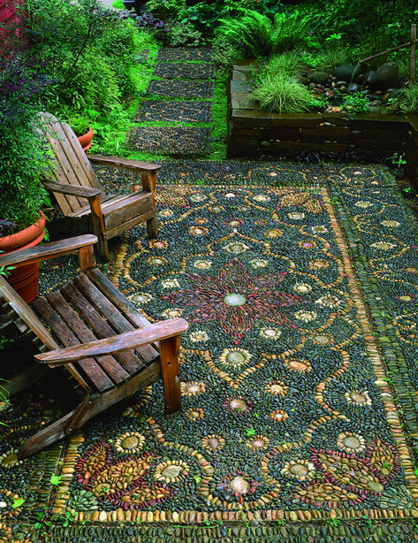 01 Beautiful DIY Mosaic Garden Path Decorations For Your Landscape InspirationAn outdoor rug made from patterned rocks and pebbles.Outdoor rug made from rocks Find out when we have more -.Post with 2429 votes and 2692 views. Tagged with Awesome; Diy Garden, Dream Garden, Garden Projects, Herb Garden, Dyi Garden Ideas, Succulent Rock Garden, Spiral Garden, Diy Ideas, Garden Steps