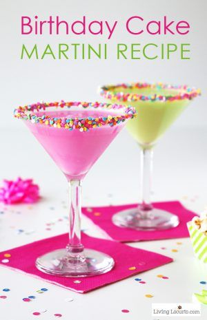 Birthday Cake Shots Recipe Strawberry milk Bright pink and
