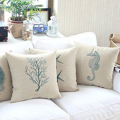 Pillow Cover Cotton Linen Decorative