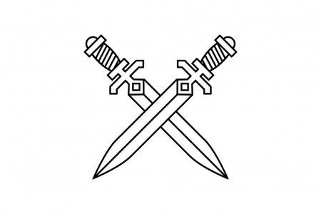 Crossed Swords Design Element Logo Label Emblem Sign Vector Illustration Sword Design Vector Illustration Design Element