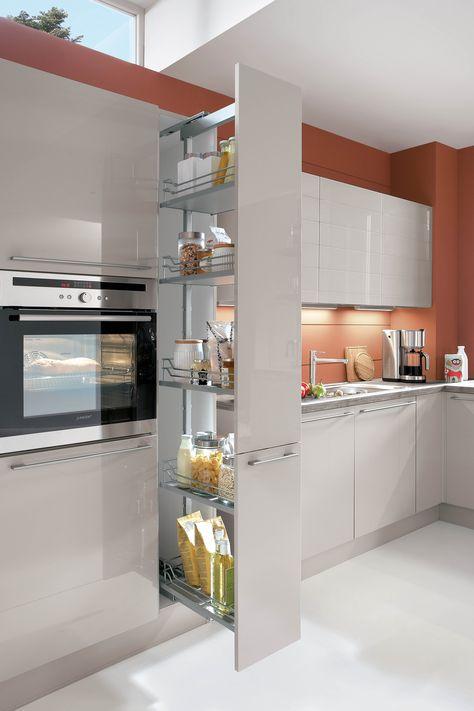 18 best Kitchen Storage images on Pinterest Kitchen storage - korbauszüge für küchenschränke