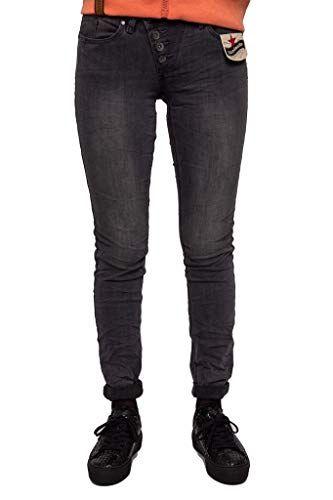 14537380cff1 Buena Vista Damen Jeans Malibu Stretch Denim Dunkelgrau S | Jeans ...