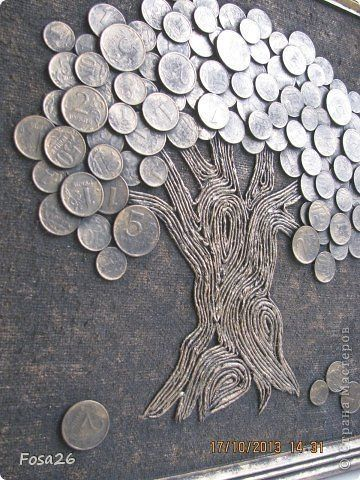 Coin Crafts, DIY World Coins Foreign Coins, Coin Art - money and coins Diy Crafts Hacks, Diy Home Crafts, Diy Arts And Crafts, Creative Crafts, Coin Crafts, Art Fil, Metal Art Projects, Button Art Projects, Coin Art