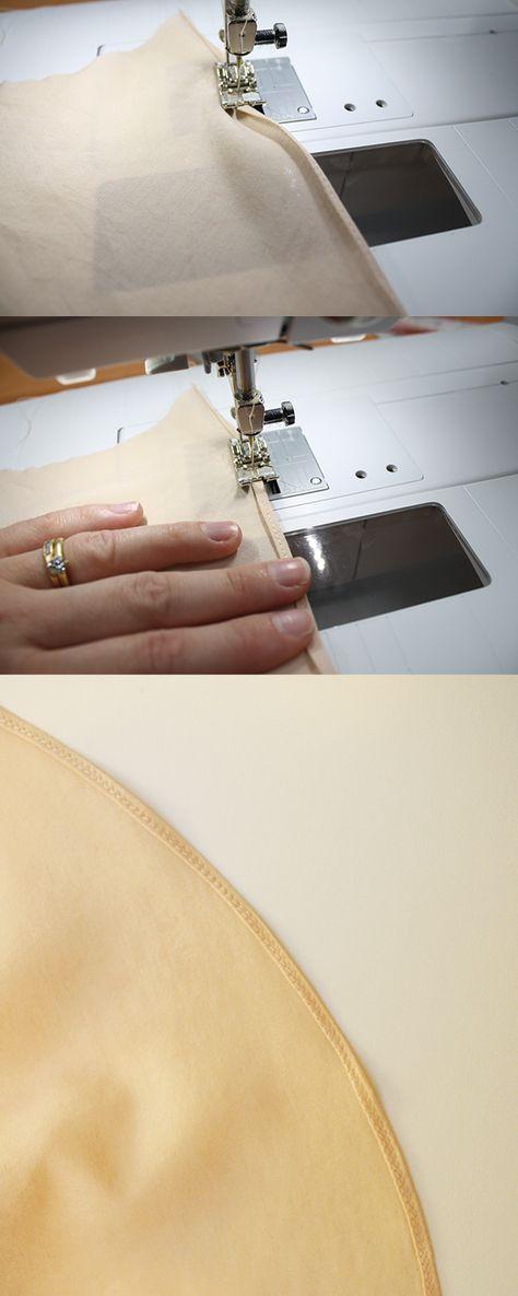 3 ways to sew a rolled hem. megan nielsen design diary