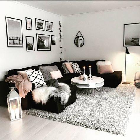 39 Trendy Bedroom Pink Black Grey Colour Schemes Living Room Decor Apartment Apartment Decorating Living Living Room Decor Cozy
