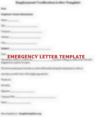 Template Of Emergency Leave Letter Lettering Letter Templates